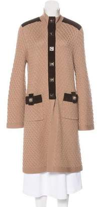 Tory Burch Long Wool Cardigan
