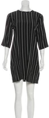 Equipment Three-Quarter Sleeve Mini Dress