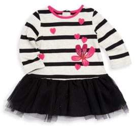 Catimini Little Girl's Bi-Material Tutu Dress