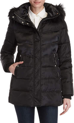 Vince Camuto Faux Fur Trim Puffer Coat
