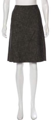 Akris Tweed Knee-Length Skirt