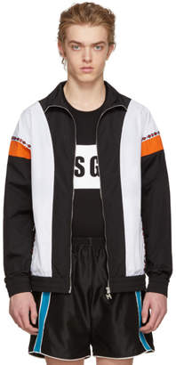 MSGM Black and Orange Track Jacket