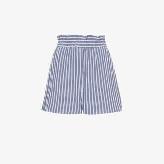 Tibi high-waisted striped shorts