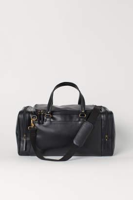 H&M Faux Leather Sports Bag - Black