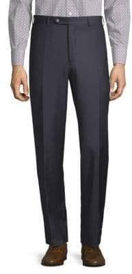 Canali Mini Check Wool Trousers