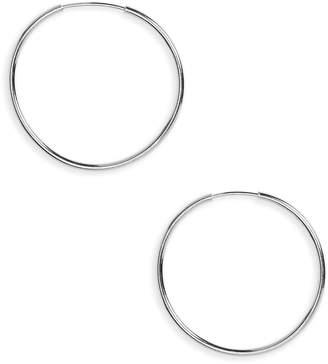 Argentovivo Endless Hoop Earrings