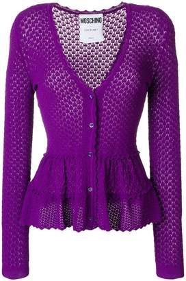 Moschino frilled crochet cardigan