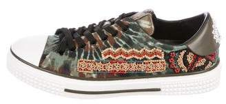 Valentino Tie Dyed Beaded Sneakers