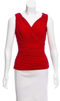 OMO Norma Kamali Sleeveless Ruched Top