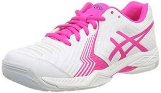 Asics Women''s Gel-Game 6 Tennis Shoes, (White/Pink Glow 100)