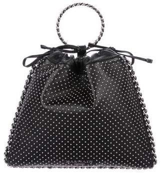 Balmain 2018 Studded Leather Bracelet Bag