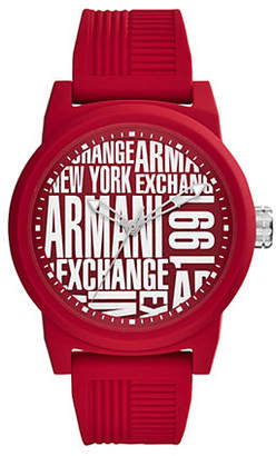 Armani Exchange ATLC Aix Analog Silicone Strap Watch