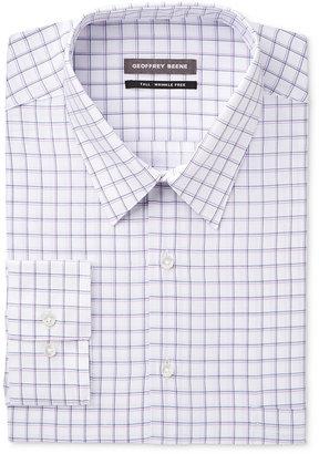 Geoffrey Beene Men's Big & Tall Classic/Regular Fit Purple Check Dress Shirt $59.50 thestylecure.com