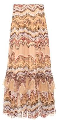 Chloé Exclusive to mytheresa.com – printed silk-crepon skirt