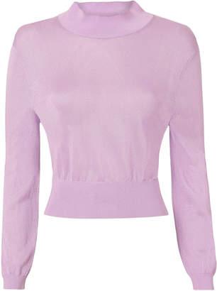 Tibi Crispy Viscose Cropped Pullover