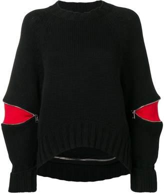 Alexander McQueen zipped sleeve jumper