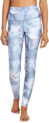 Zella Print Slick High Waist Leggings