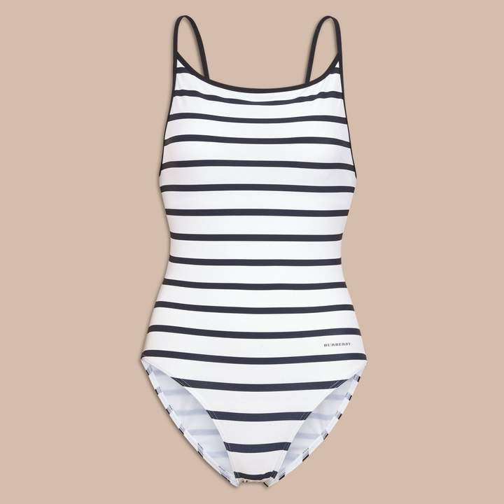 Burberry Breton Stripe Swimsuit