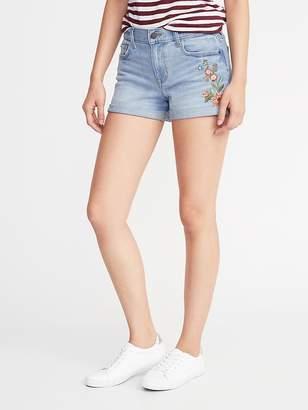 Old Navy Boyfriend Embroidered Shorts for Women - 3 inch inseam
