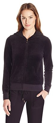 Juicy Couture Black Label Women's Logo Velour Filagree Crown Original Jacket $208 thestylecure.com