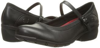 SKECHERS Work - Toler SR Women's Maryjane Shoes $68 thestylecure.com