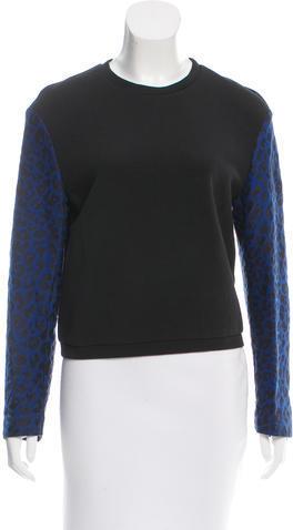 3.1 Phillip Lim3.1 Phillip Lim Leopard Print Long Sleeve Sweatshirt