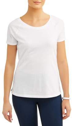 Athletic Works Women's Core Active Scoopneck Short Sleeve Raglan T-Shirt