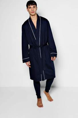 boohoo Jersey Robe With Piping Detail