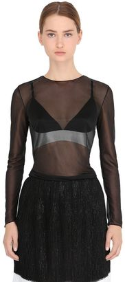 Long Sleeve Sheer Tulle Top $624 thestylecure.com