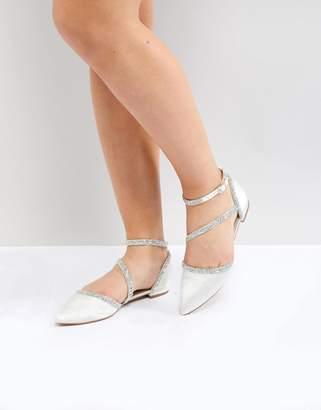 Asos DESIGN LORNA Bridal Ballet Flats