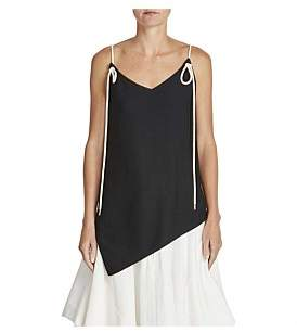 Bassike Shoestring Asymmetric Camisole