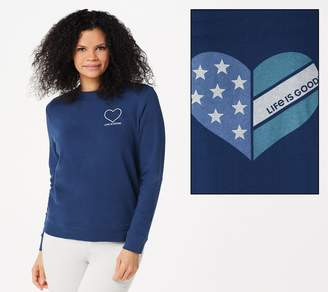 Life is Good Simply True Crew French Terry Sweatshirt