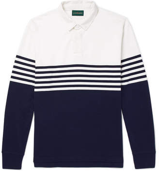 J.Crew Kyle Twill-Trimmed Striped Cotton-Jersey Polo Shirt