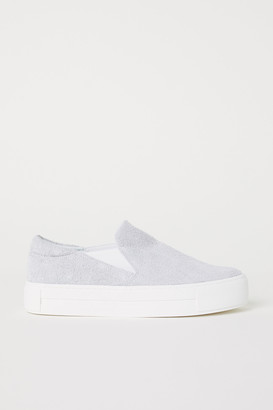 H&M Suede slip-on trainers