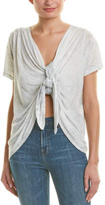LnA Ema Linen-Blend T-Shirt