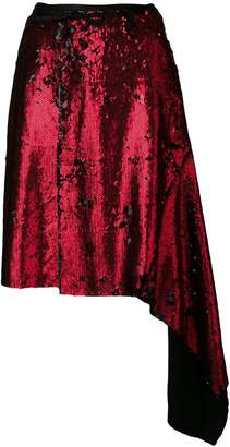 Marques Almeida Marques'almeida asymmetric sequinned skirt