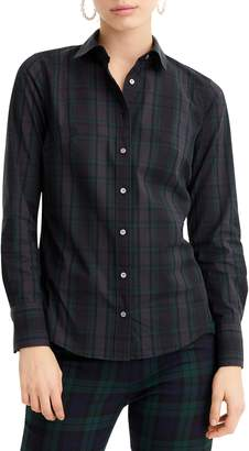 J.Crew Perfect Black Watch Tartan Slim Stretch Shirt