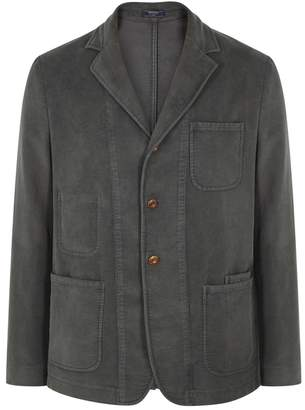 Boglioli Dark Grey Brushed Cotton Blazer