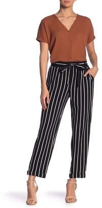 Blu Pepper Stripe Tie Front Pants