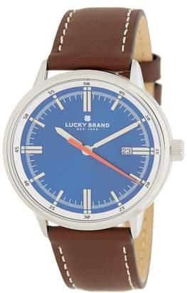 Lucky Brand Men's Fairfax Blue Leather Strap Watch, 40mm