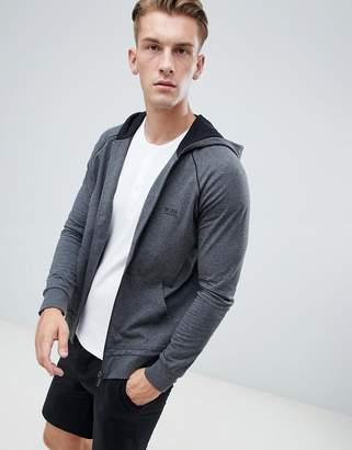 BOSS bodywear zip through jacket with hood