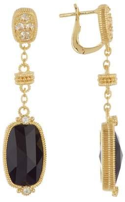 Judith Ripka 14K Gold Plated Sterling Silver Gold Coast Elongated Cushion Stone Dangle Earrings
