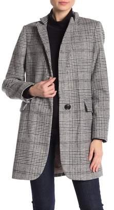 Lucky Brand Long Plaid Coat