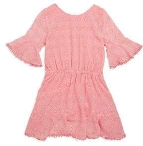 Ella Moss Girls Flounce Bell-Sleeve Chiffon Dress