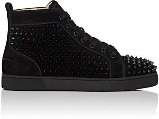 Christian Louboutin Men's Louis Orlato Flat Suede Sneakers
