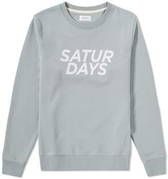 Saturdays NYC Bowery Gotham Italic Crew Sweat