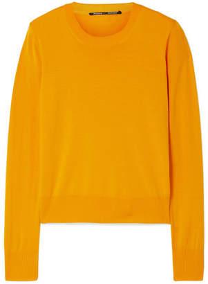 Proenza Schouler Mesh-trimmed Merino Wool-blend Sweater - Marigold