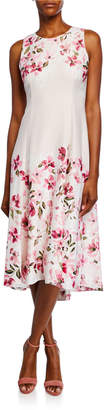 Maggy London Floral-Print Sleeveless High-Low Midi Dress