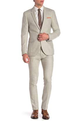 Topman Cross Hatch Suit Trousers