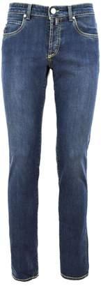E. Marinella Blue Capri Stretch Denim Skinny Jeans.